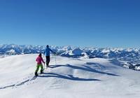 Schneeschuh Wandern Steinplatte Waidring