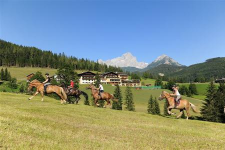 Hotelpanorama mit Pferde