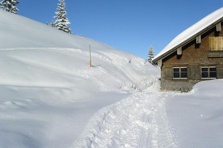 Winter auf der Burgl Hütte