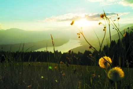 Sonnenuntergang am Millstätter See