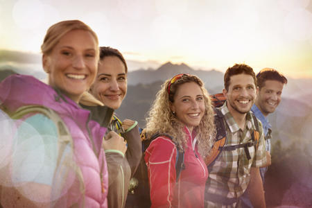 Wandergruppe in Flachau