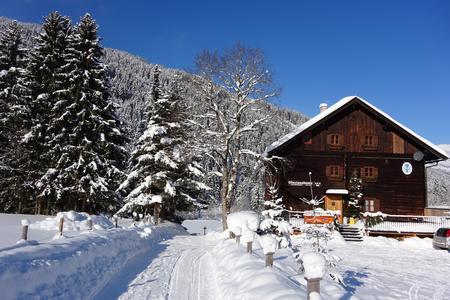 Die Oberlandhütte im Winter