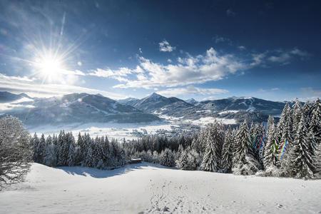 Ortsbild Altenmarkt Winter