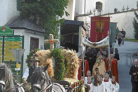 Erntedank Prozession in Annaberg