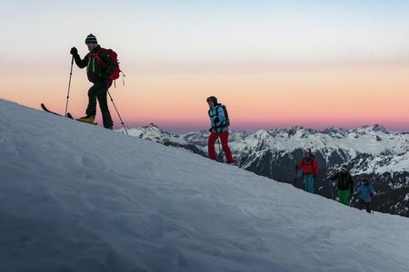 Skiexkursion am Abend in Gargellen
