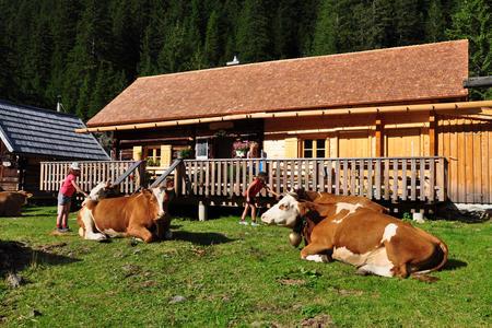 Die Berallerhütte bei der Kotalm