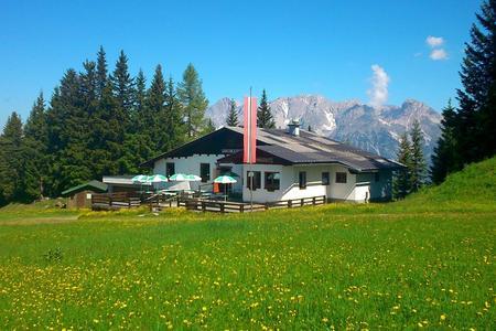 Die Lärchkogelhütte auf der Planai