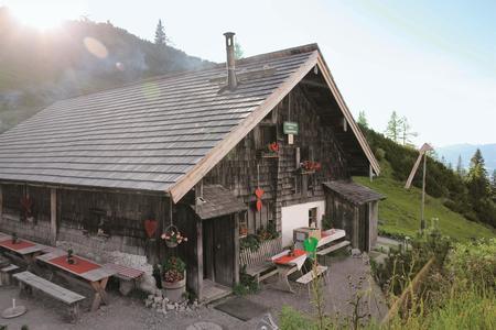 Die Langfeldhütte auf der Loseggalm