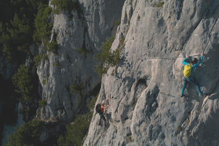 Klettersteig s'Schuastagangl Steinplatte