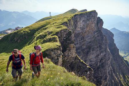 Wanderer am Diedamskopf