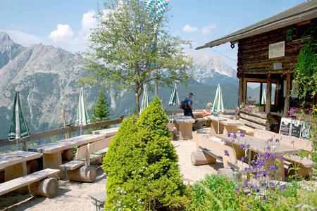 Brunnsteinhütte im Karwendel