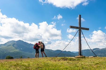 Hirnkopf Gipfelkreuz Flattnitz