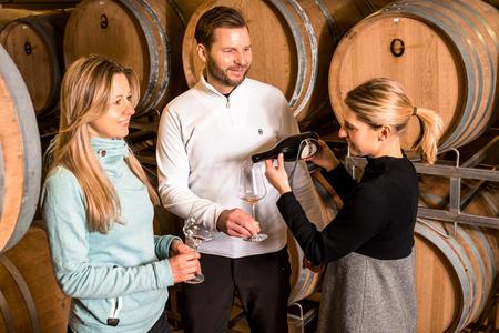 Weinverkostung im Weingut Georgium