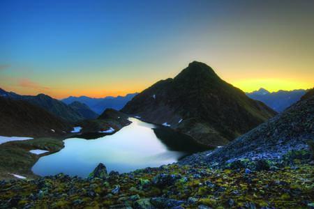 Schwarzsee oberhalb von Sölden